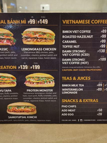 Banh Mi Kitchenのメニュー